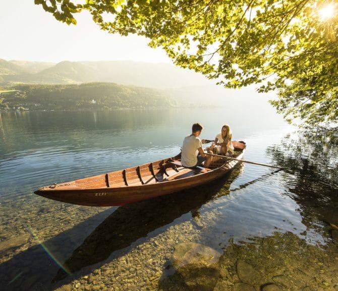 Millstätter See Ruderboot fahren