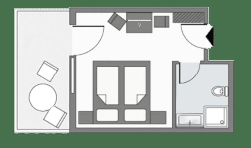 Zimmerplan Doppelzimmer