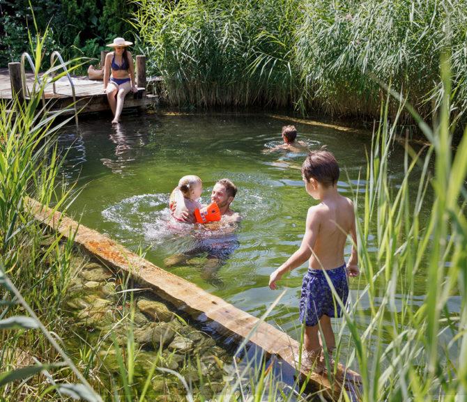 Hotel mit Naturbadeteich, Millstätter See
