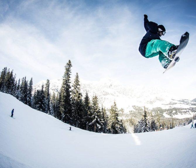 Skifahren und Snowboarden Goldeck