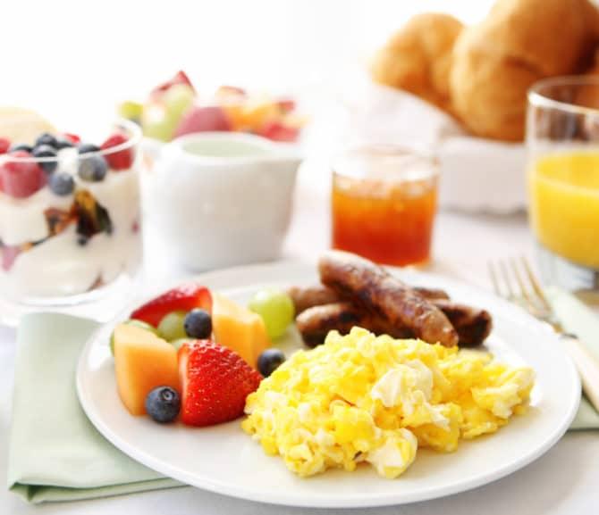 Frühstücken im Hotel Trattnig