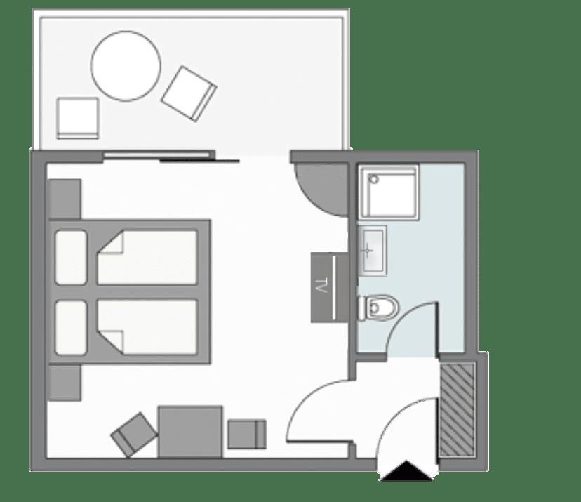 Zimmerplan Doppelzimmer Superior