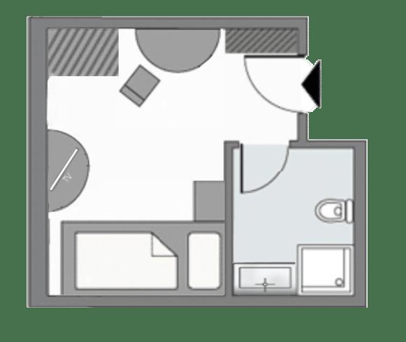 Einzelzimmer Grundriss