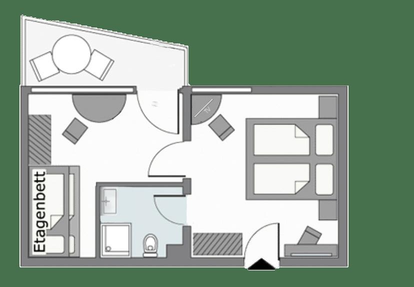Zimmerplan Junior Suite