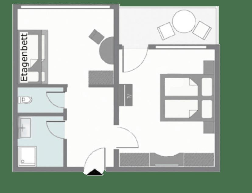 Zimmerplan Junior Suite Superior